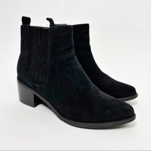 Blondo Women's Black Suede Waterproof Booties 8.5